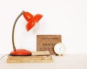 Vintage tangerine tango gooseneck lamp