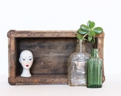 Vintage repurposed wooden building mold / box