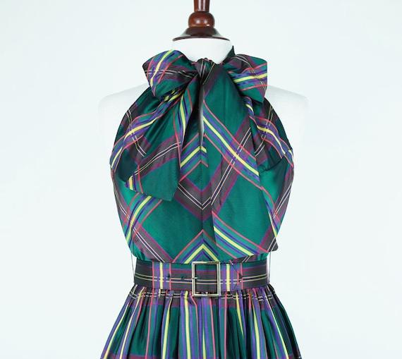 Vintage 1960s Howard Wolf Boutique Halter Party Dress
