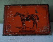 vintage Red CIGAR TIN Tobacco BOX Prize Winners - Binghamton New York