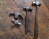vintage HAMMERS - Large Claw - Ball Pien - Set of 4