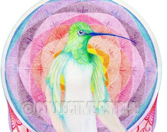 "Hummingbird of Light - 4"" x 6"" Blank Card"