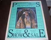 Vintage 1983 Professional Artist of Colorado Poster Signed by 12 Artist