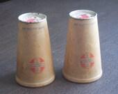 Vintage1932 SEALRIGHT Paper Bottles Set of 2