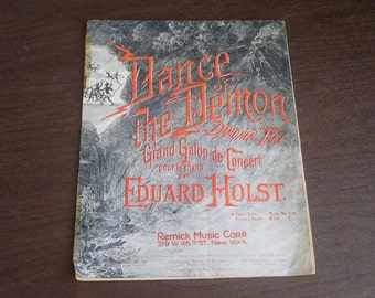 1916 Dance Of The Demon Sheet Music
