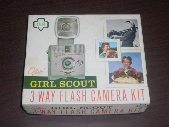 1950s Official Girl Scout Flash Camera Kit