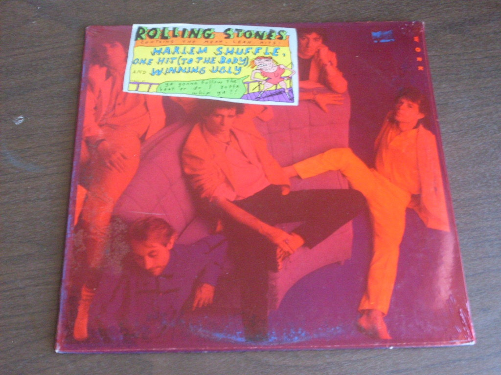 1986 The Rolling Stones Dirty Work Lp Sealed