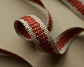 Rust Striped Trim 5yds (R18)