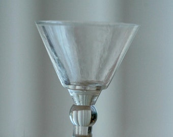 Miniature glass, doll house scale martini glass, tiny 1/12th scale glass.