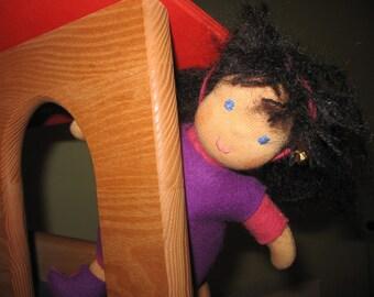 Felt dolls, Waldorfart, Schlamperle Martha, cloth doll, doll favorite