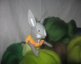 Hare child, cheeky, cheerful, Easter, Easter bunnies child, Easter bunny, gray, white,