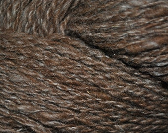 Hanspun Natural colored llama/wool yarn