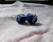 Felt Blueberry Earrings