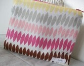 Summer Zipper Pouch in Pinks and grays