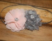 Newborn Infant Baby Child Girl Teen Adult - Pink Gray Luxe - Headband