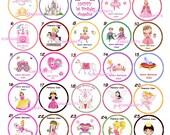 Princess Fairies prince fairy princesses Edible cookie cupcake tops party decoration favors
