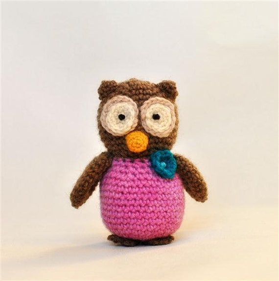 Crochet Owl Childrens Toy, Nature Inspired Soft Toy, Gift for Kids