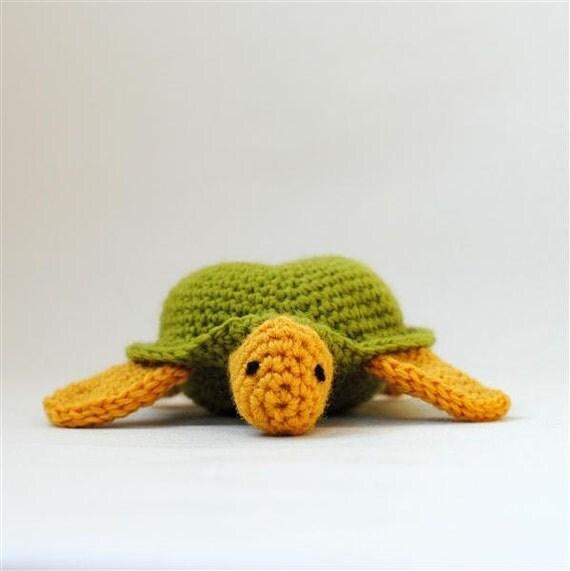 Amigurumi Turtle : Amigurumi Plush Sea Turtle Crochet Turtle by SnowfallStudio