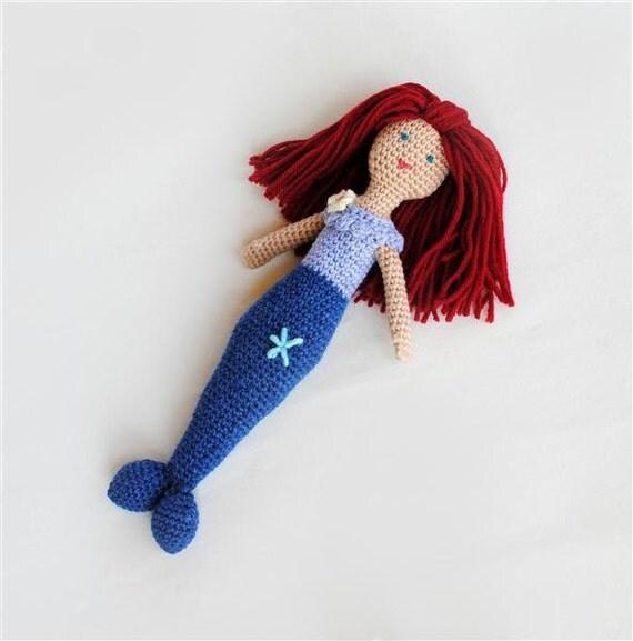 Mermaid Doll, Wool Waldorf Doll, Little Mermaid Ready to Ship