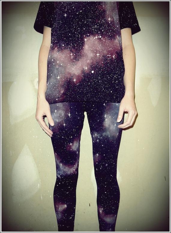Starry Nebula Galaxy Leggings