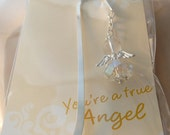 Christian Gift Bookmark Clear Angel