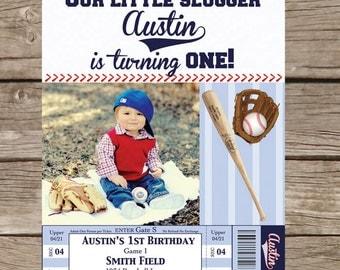 Photo Baseball Birthday Invitation - Printable