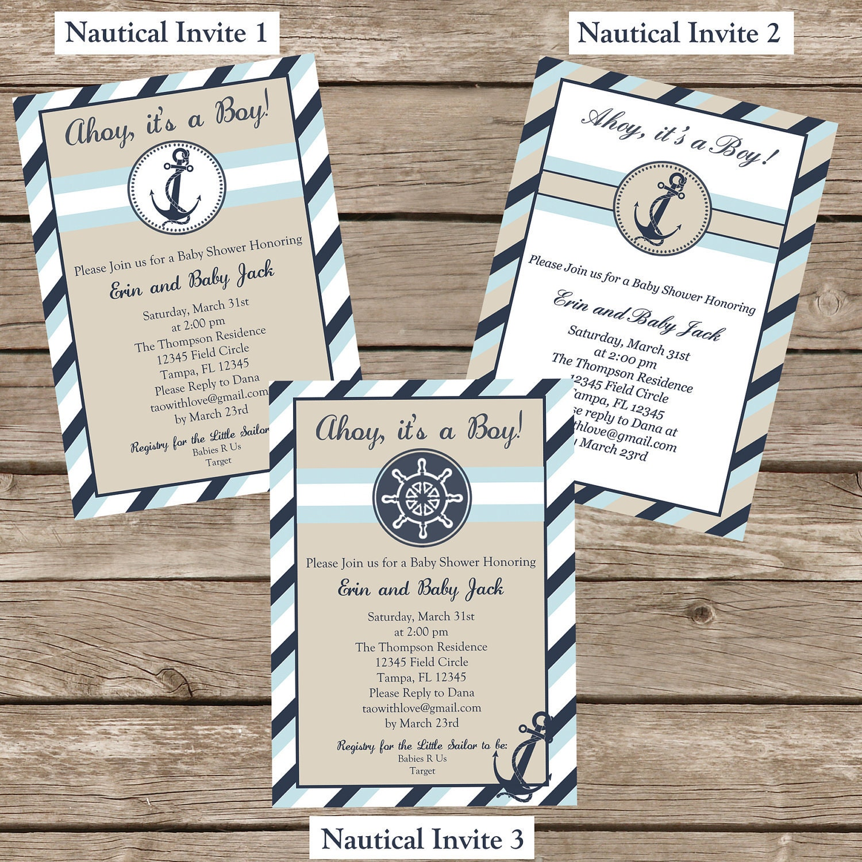 Nautical Baby Shower Invitation Printable