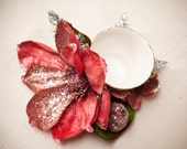 Pink Sparkle Blossom with Silver Details Cup