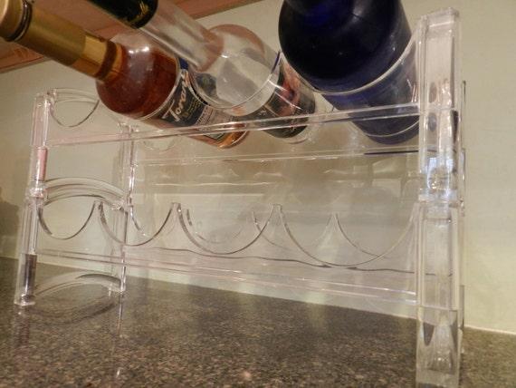 Acrylic Wine Rack, Holdes 8 Bottles, Wine Bottle Holder, Liquor, Lucite