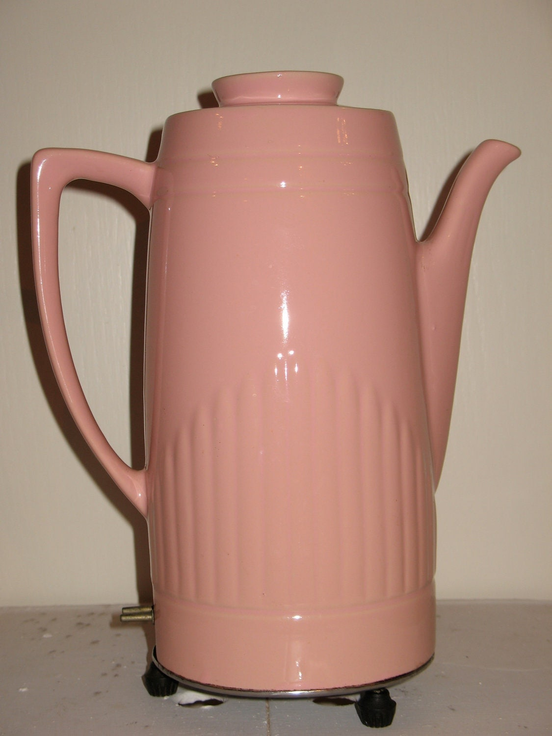 1950s Pink Percolator Coffee Maker Coffee Pot by benelei on Etsy