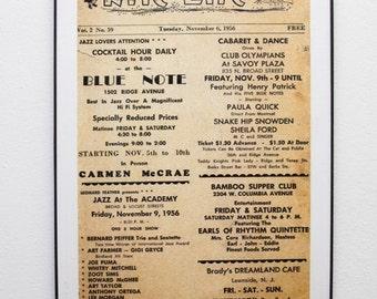 The Nite Life jazz  poster  11x17