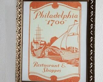 "Philadelphia ""1700"" 8x10 mini poster"