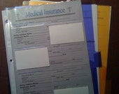 Medical Record Keeper Packet, Organizer, Planner