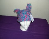 Berry Colored Hat with Stash Ears
