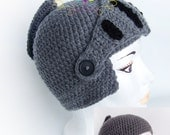 Knight crochet hat LARGE ADULT Size