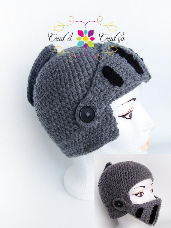 Knight crochet hat CHILD SIZE
