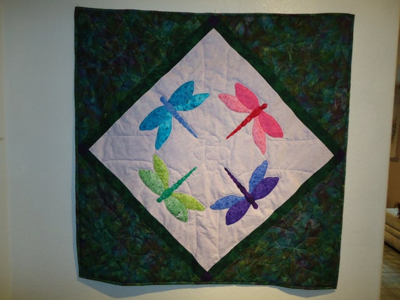 Dragonfly Lap Quilt or Large Wall Hanging
