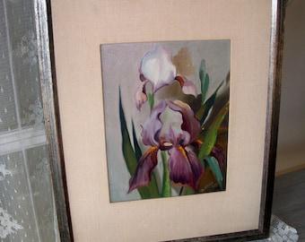 Iris - Framed Oil Painting