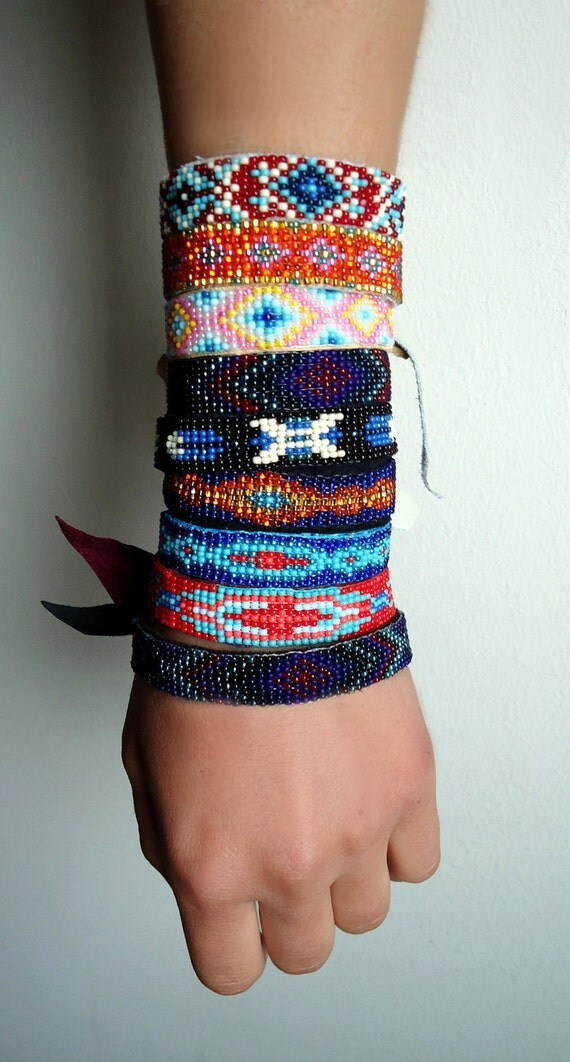 Items Similar To Custom Native American Beaded Bracelet On
