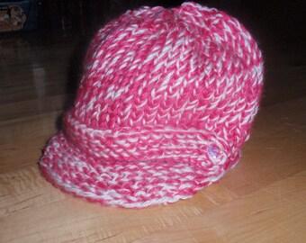 Pattern for Loom Knit Messenger/Newsboy Hat  Instant Download