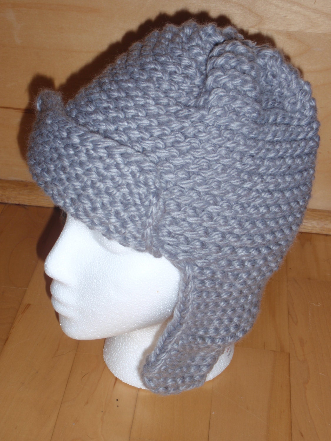 Knitting Loom Hat : Loom knit pattern for a bomber style hat instant download