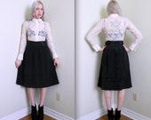 1950's High Waist Full Skirt (Xs)