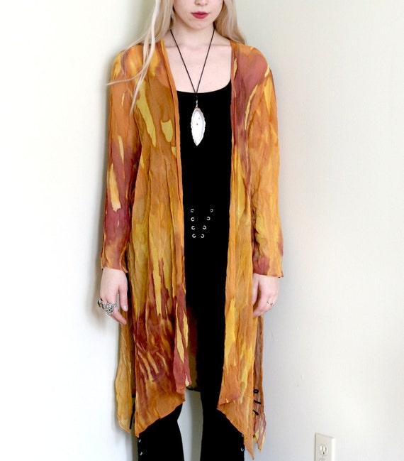 Sheer Chiffon Painted Kimono