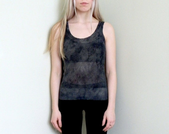 RESERVED Hand Marble-Dyed Mesh Tank