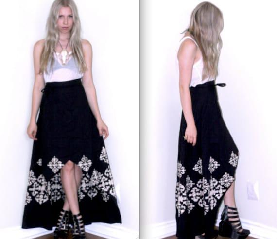 Stunning Cotton Batik Wrap Skirt