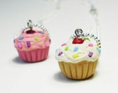 Scented Cupcake Necklace with Rainbow Sprinkles