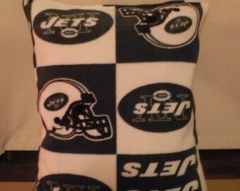 NY Jets Fleece Pillow