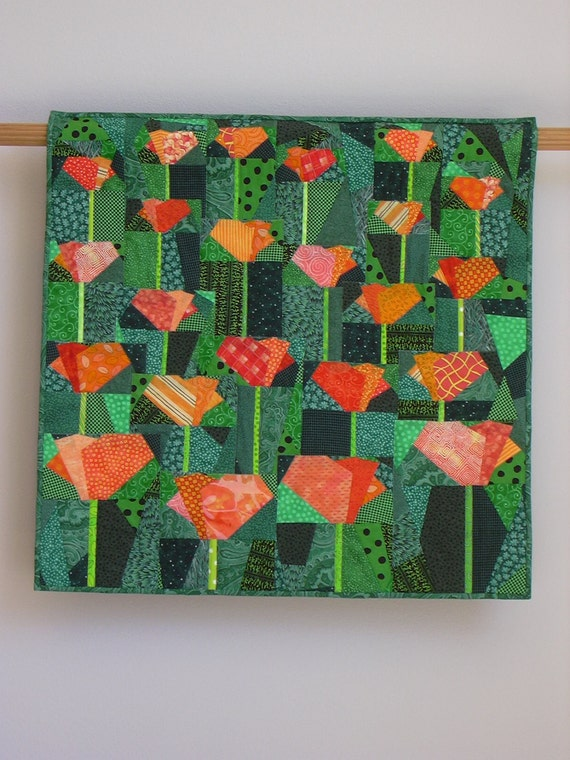 California Poppies wall quilt