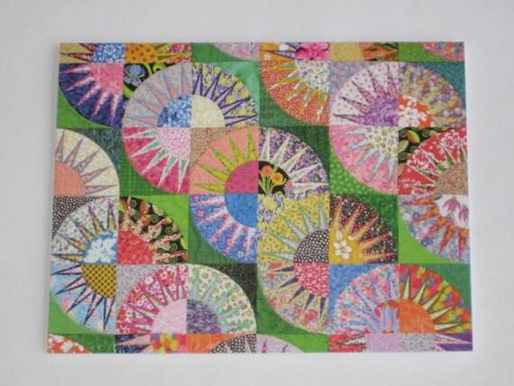 Sheila's Garden quilt note card (folded)
