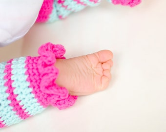 Little Leggies NB-12M, Ruffle Legwarmers for Baby